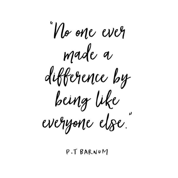 Make a difference being you